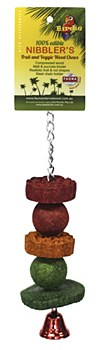 Birdie Walnut Fruit Slice Small Bird Toy