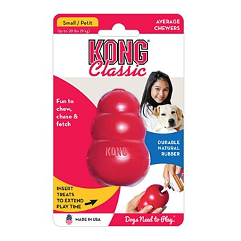 KONG Classic Dog Toy Small Red