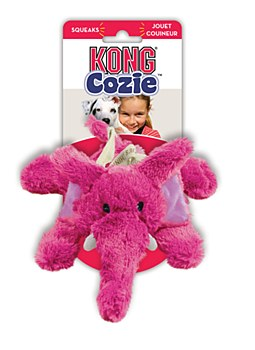 KONG Cozie Elmer the Elephant Plush Dog Toy Medium