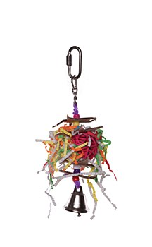Kazoo Crinkle Star and Bell Small Bird Toy