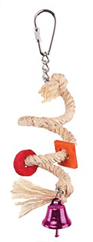 Kazoo Sisal Rope and Bell Small Bird Toy