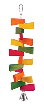 Kazoo Zig Zag Chips and Bell Medium Bird Toy