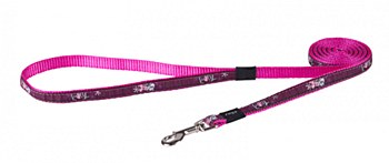 Rogz Dog Lead Scooter Pink Love Hearts