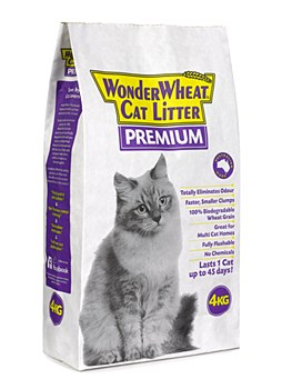 Wonder Wheat Premium Cat Litter 4kg