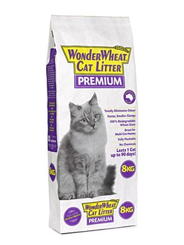Wonder Wheat Premium Cat Litter 8kg