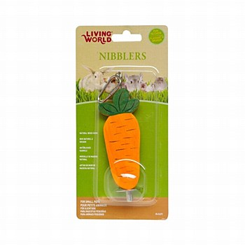 Living World Nibblers Carrot on Stick Large Small Pet Treat