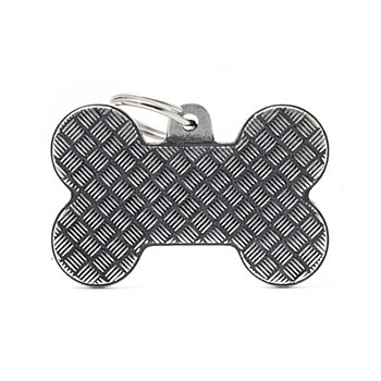 My Family Bronx Bone Platform Large Pet Tag