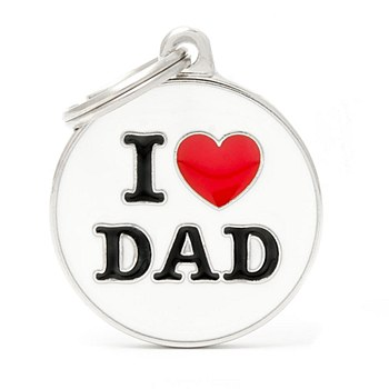 My Family Charm I Love Dad Pet Tag