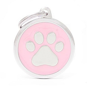 My Family Classic Paw Large Pink Pet Tag