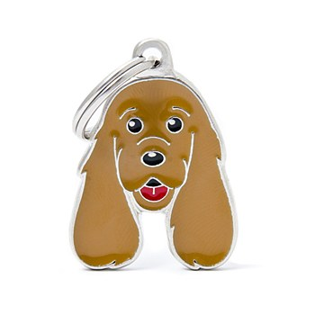 My Family Friends Cocker Spaniel Brown Pet Tag