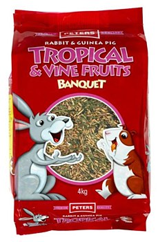 Peters Rabbit and Guinea Pig Tropical & Vine Fruits 4kg
