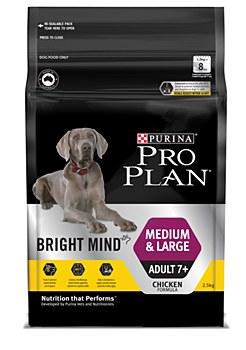 Pro Plan Bright Mind Medium & Large Adult 7+ 2.5kg Dry Dog Food