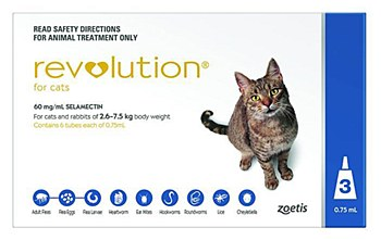 Revolution For Cats and Rabbits 2.6kg to 7.5kg (3 Pack)