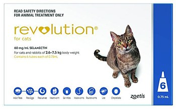 Revolution For Cats and Rabbits 2.6kg to 7.5kg (6 Pack)
