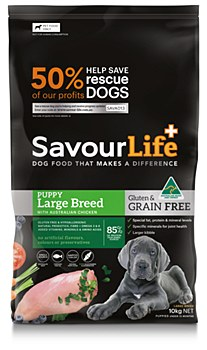 Savourlife Grain Free Puppy Large Breed with Chicken 10kg Dry Dog Food