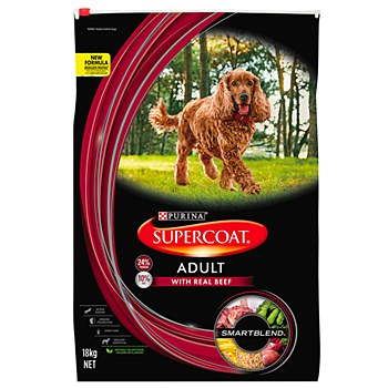Supercoat Adult with Real Beef 18kg Dry Dog Food