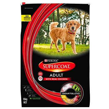 Supercoat Adult with Real Chicken 18kg Dry Dog Food