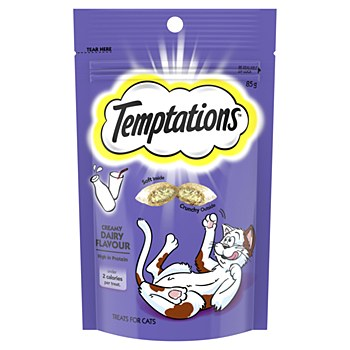 Temptations Creamy Dairy Flavour Cat Treats 85g