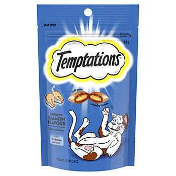 Temptations Savory Salmon Flavour Cat Treats 85g