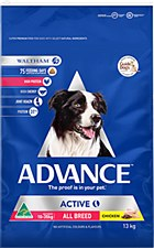 Advance Adult Active All Breed 13kg Dry Dog Food
