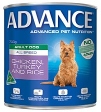 Advance Adult All Breed Chicken, Turkey and Rice 700g Wet Dog Food
