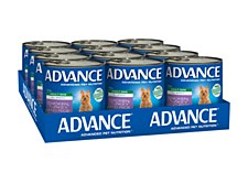 Advance Adult All Breed Chicken, Turkey and Rice 700g x 12 Wet Dog Food