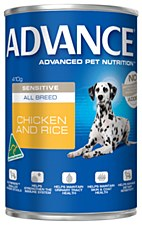 Advance Adult All Breed Sensitive Chicken and Rice 410g Wet Dog Food