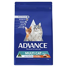 Advance Multi Cat Chicken & Salmon 3kg Dry Cat Food