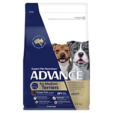 Advance for Medium Terriers Ocean Fish with Rice 2.5kg Dry Dog Food