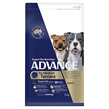 Advance for Medium Terriers Ocean Fish with Rice 13kg Dry Dog Food