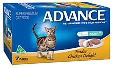 Advance Adult Cat Tender Chicken Delight 7x85g Wet Cat Food
