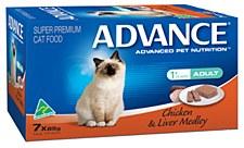 Advance Adult Cat Chicken & Liver Medley 7x85g Wet Cat Food