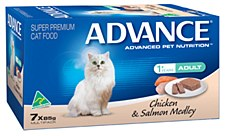 Advance Adult Cat Chicken & Salmon Medley 7x85g Wet Cat Food