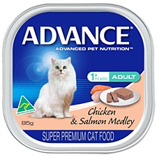 Advance Adult Cat Chicken & Salmon Medley 85g Wet Cat Food