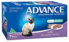 Advance Adult Cat with Succulent Turkey 7x85g Wet Cat Food