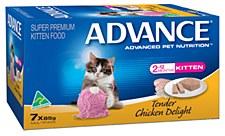 Advance Kitten Tender Chicken Delight 7x85g Wet Cat Food