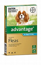 Advantage Aqua Flea Treatment for Medium Dogs 4 - 10kg (4 Pack)