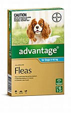 Advantage Aqua Flea Treatment for Medium Dogs 4 - 10kg (6 Pack)