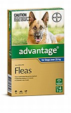 Advantage Blue Flea Treatment for Extra Large Dogs Over 25kg (4 Pack)