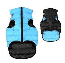 Airy Vest Dog Coat Size 30S Blue & Black