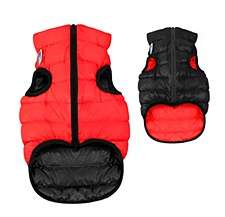 Airy Vest Dog Coat Size 40M Red & Black