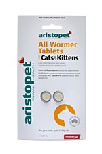 Aristopet All Wormer Tablets for Cats & Kittens (2 Pack)