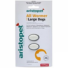 Aristopet All Wormer Tablets for Large Dogs (2 Pack)