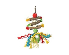Allpet Wood & Rope 18cm Bird Toy