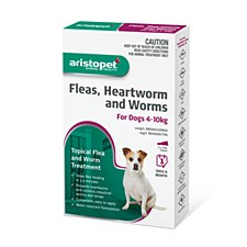 Aristopet Topical Flea & Worm Treatment For Dogs 4-10kg (3 Pack)