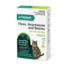 Aristopet Topical Flea & Worm Treatment for Cats Over 4kg (3 Pack)