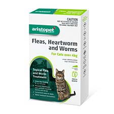 Aristopet Topical Flea & Worm Treatment for Cats Over 4kg (6 Pack)