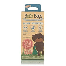 Beco Mint Scented Degradable Poop Bags (120 Pack)