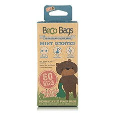 Beco Mint Scented Degradable Poop Bags (60 Pack)