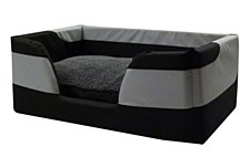 K9 Homes Dry Comfort Small Grey & Black Dog Bed